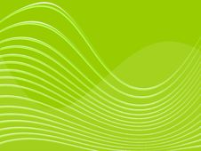 Free Green Background With Waves Stock Photography - 6229752