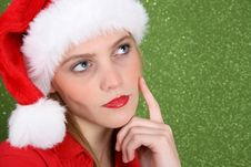 Christmas Thoughts Stock Photo