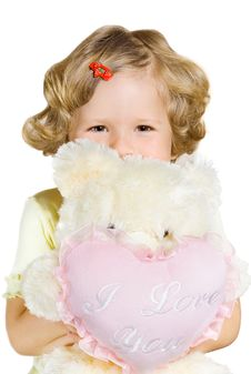 Free Small Girl With Toys Stock Photography - 6229802