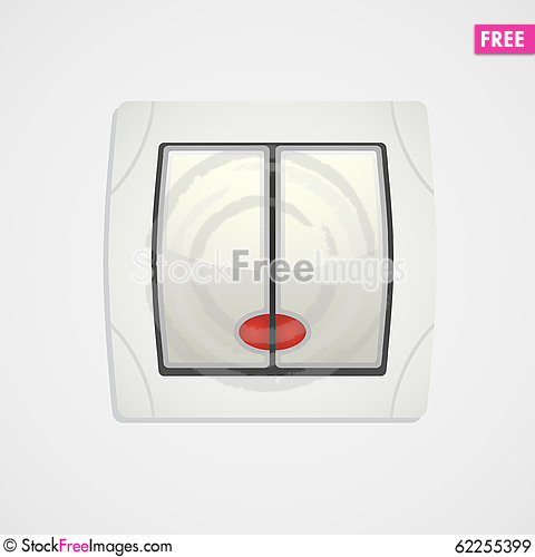 Free White Light Switch Icon. Royalty Free Stock Images - 62255399