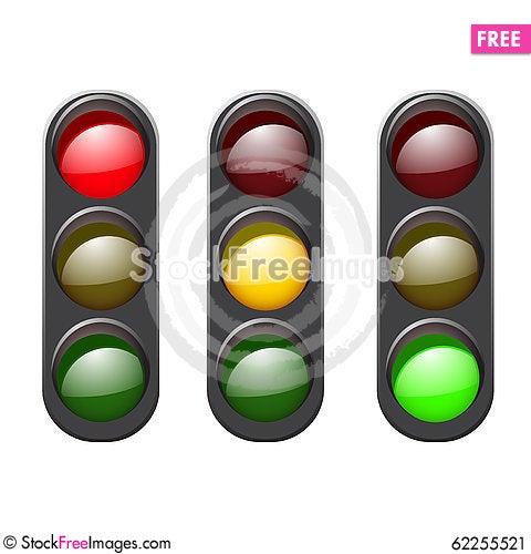 Free Set Traffic Light Icon. Stock Image - 62255521