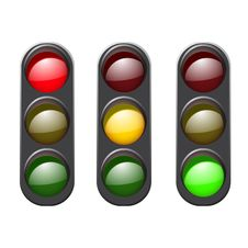 Free Set Traffic Light Icon. Stock Image - 62255521