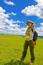 Free Happy Girl On Meadow,sky Royalty Free Stock Photo - 6236665