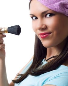 Free Applying Make-up. Royalty Free Stock Image - 6230406