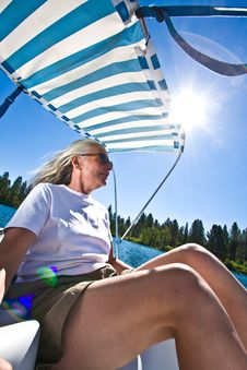 Free Woman Boating Royalty Free Stock Photos - 6230578