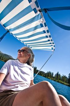 Free Woman Boating Royalty Free Stock Images - 6230599