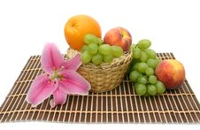 Free Lily And Fruit Royalty Free Stock Photography - 6231137