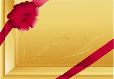 Free Gold  Gift Background Royalty Free Stock Photos - 6231168