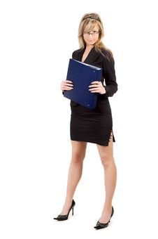 Businesswoman Holding Folder Royalty Free Stock Images