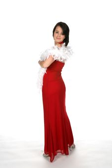 Free Teen In Red Gown Royalty Free Stock Image - 6231286