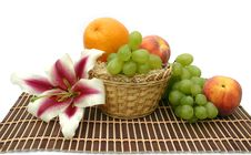 Free Flower Of A Lily And Fruit Royalty Free Stock Photography - 6231347