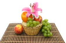 Free Fruit In A Yellow Basket Stock Photography - 6231352