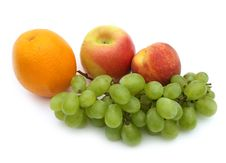 Free Grapes In  A White Background Stock Image - 6231391
