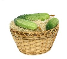 Free Green Cucumbers Royalty Free Stock Photo - 6231395