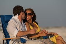 Free Couple In Beach Chairs Stock Photos - 6231563