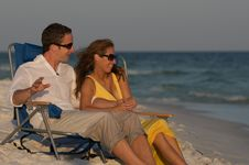 Free Couple In Beach Chairs Royalty Free Stock Image - 6231586