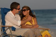 Free Couple In Beach Chairs Stock Image - 6231591