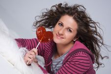 Free Girl With A Candy Stock Photography - 6231592