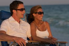 Free Couple In Beach Chairs Royalty Free Stock Photo - 6231625