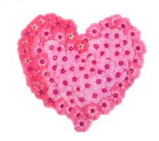 Heart Of  A Phlox Stock Photo