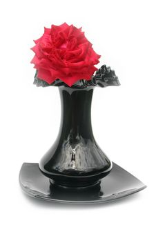 Free Rose In A Black Vase Stock Image - 6231661