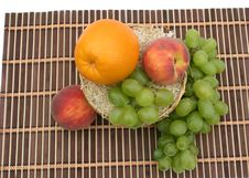Orange And Grapes Royalty Free Stock Image
