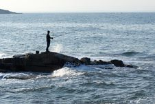 Free A Man Is Fishing In A Nice Day Royalty Free Stock Photos - 6232608