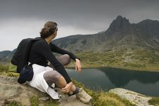 Free Resting Mountaineer Stock Image - 6233221