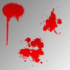 Free Blood Splats Royalty Free Stock Photos - 6234018