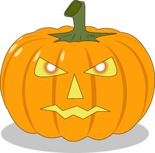 Free The Halloween Orange Pumpkin Stock Images - 6234024