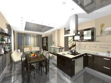 Free 3dmax Kitchen, Guest Stock Photos - 6234113