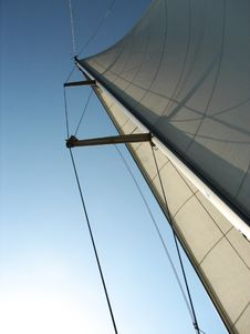Sailboat Mast And Sail Stock Images