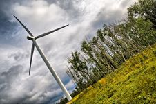 Free Windmill In A Toxic Forest Stock Images - 6235874