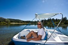 Free Woman Boating Royalty Free Stock Image - 6236036