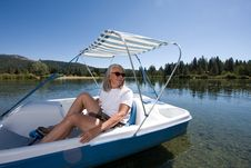 Free Woman Boating Stock Image - 6236081