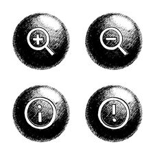 Free Sketchy Orb Button Royalty Free Stock Images - 6236209