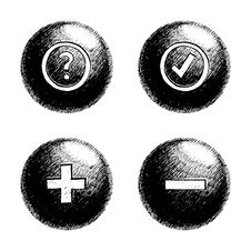 Free Sketchy Orb Button Stock Photography - 6236292