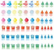 Free Set Of Christmas Icons. Stock Photo - 6236350