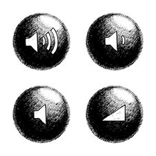 Free Sketchy Orb Button Stock Photography - 6236352