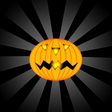 Free A Scary Halloween Pumpkin Royalty Free Stock Images - 6236539