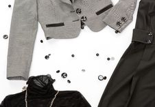 Free Black Buttons With Clothes Royalty Free Stock Photography - 6236717