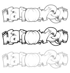 Halloween Graffiti Stock Image