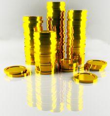 Free Heap Of Gold Coins Stock Photo - 6236800