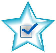 Star Web Button Royalty Free Stock Photography