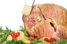 Free Brushing Glaze On Ham Royalty Free Stock Photography - 6237317