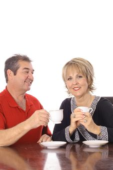 Free Attractive Couple Having Coffee Royalty Free Stock Images - 6237469
