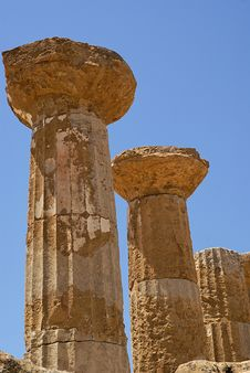 Free Temple Of Ercole, Sicily Stock Photography - 6237602