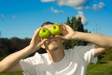 Free Man With Apple-eyes Stock Photo - 6238350