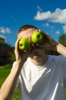 Free Man With Apple-eyes Stock Images - 6238364