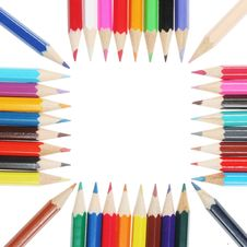 Free Colored Pencils Square Royalty Free Stock Photography - 6238517